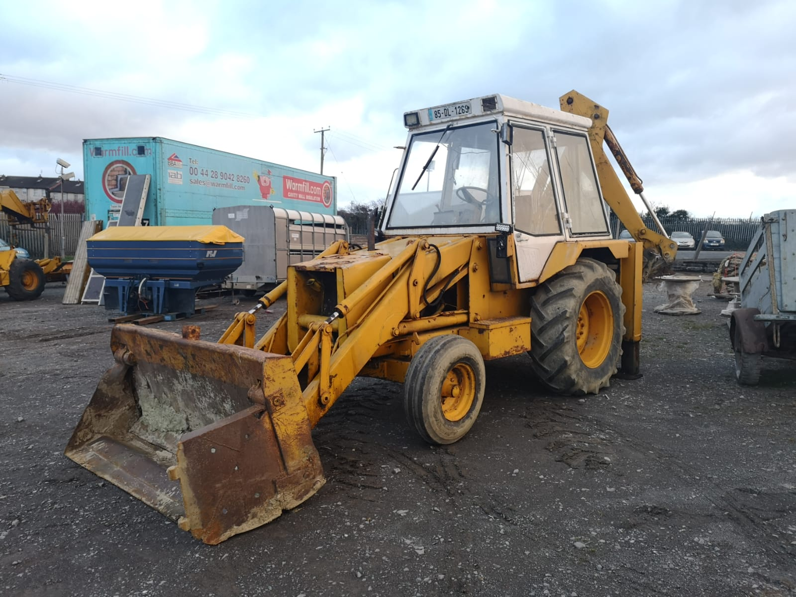 Jcb 3cx Digger White Cab Approx 1985